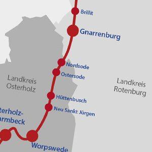 Interaktive Streckenkarte